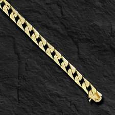 10k Solid Yellow Gold Men's Curb Link chain/necklace  6.5 mm  48 grams 24""