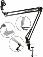 RockJam Heavy Duty, Desk Mounting Mic Scissor Arm Microphone Stand RJMS050