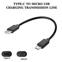 Type C (USB-C)  Micro USB Male Sync Charge OTG CHARGER Cable Cord Adapter 30cm