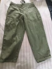 Olive Green Croped Trousers
