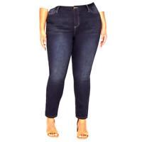 NEW Catherines (Lane Bryant) PLUS 5X Denim Jegging True Front Jean $62 Dark