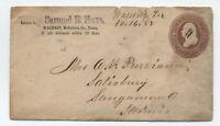1888 Waldrip TX manuscript postmark on stamped envelope [H.232]