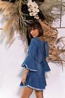 MLM | Womens Hazel Denim Dress NEW [ Size S or AU 10 / US 6 ]