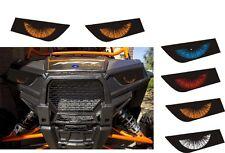 POLARIS 1000 RZR XP 900 4 HEADLIGHT DECALS STICKER utv SIDE X RED ORANGE BLUE
