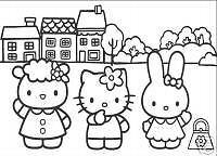 25 * Hello Kitty * Malvorlagen -Set 3