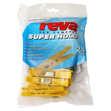 2 x Reva Superhold CLOTHES PEGS 24pk for heavy garments or windy days