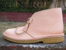 DS CLARKS DESERT BOOT NATRUAL TAN LEATHER sz 8 MADE IN ITALY crepe boots