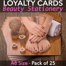 Loyalty Cards - Pack of 25 - nail technicians/beauty salon/therapists, A8 mini