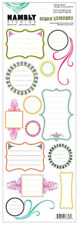 Hambly Studios Vintage Journal Bits Clear Stickers, Art, Craft, Wrapping, Cards
