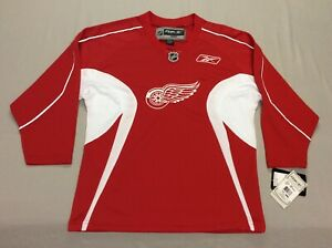 DETROIT RED WINGS REEBOK ICE HOCKEY JERSEY YOUTH KIDS LARGE NEW WITH TAGS NWT!