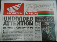 Honda Racing with Castrol brochure Issue One 1992