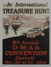 Poster Stamp - DMAA Convention International Treasure Hunt 1926 Detroit Michigan