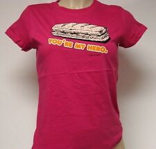 NEW Girls Juniors DAVID & GOLIATH You're My Hero Pink T-Shirt