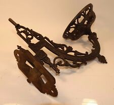 17210/ Antique / Vintage ~ CAST IRON WALL OIL LAMP BRACKET ~ Wall Swivel Mount