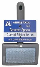 MILLERS FORGE MINI GROOMER SPECIAL CURVED SLICKER BRUSH. TO THE USA