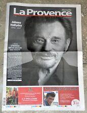Johnny Hallyday - Journal La Provence Marseille 07/12/2017