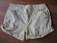 LADIES CUTE PATCHY YELLOW COTTON CASUAL SHORTS BY NOW - SIZE 10 - CHEAP