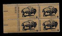 US  1970 Sc# 1392 6 c  American Buffalo Mint NH  PLATE Block of 4