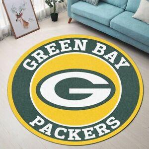 Green Bay Packers Area Fluffy Rug Round Rug Bathroom Floor Mat Non-slip Door Mat