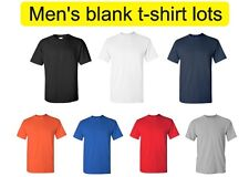 Wholesale Lot of 36 Men's blank gildan t-shirts. Available in various colors.