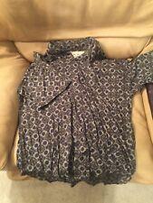 Vtg Maxx Fm Button Up Short Sleeve Shirt - Abstract Native Usa Made - Men's Xl