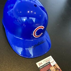 Billy Williams Signed Full Size Chicago Cubs Baseball Helmet With JSA COA