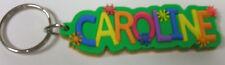 Caroline - NEW-Colorful Name Key-chain Key-ring Name Bag Tag Gift - Green