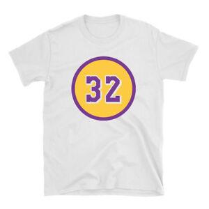 Magic Johnson - Number 32 - White T Shirt Los Angeles