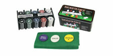 BES BES-26032 Texas Hold'em Set di Poker 200 Fiches in Scatola di Metallo