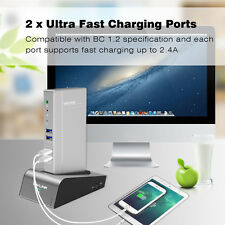 USB3.0 Aluminum Universal Docking Station,DualVideo Docks,HDD&SSD Enclosure Base