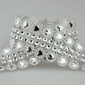5yards 27mm Rhinestone Mesh Wrap Roll Crystal Ribbon Wedding Bling Diamond Decor