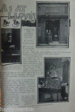 Old Lloyds Marine Insurance Shipping Agency Antique Victorian Photo Article 1900