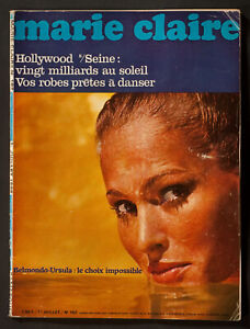'MARIE-CLAIRE' FRENCH MAGAZINE URSULA ANDRESS COVER HOLIDAY ISSUE 1 JULY 1966