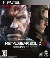 Used PS3 Metal Gear Solid V Ground Zero SONY PLAYSTATION 3 JAPAN JAPANESE IMPORT