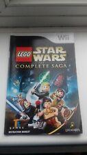 Nintendo wii instruction booklet manual lego star wars complete saga