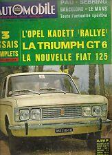 L'AUTOMOBILE 253 1967 OPEL KADETT RALLYE TRIUMPH GT6 FIAT 125 24H MANS INDY 500