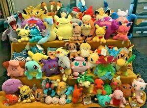 Pokemon Plush Teddy Collection - Choice of 86 1st Generation One Characters  NEW