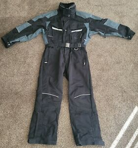 MARKER One Piece Ski Suit Snow Pant Snowmobile Men's Size Large Black/gray