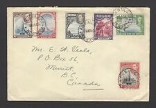 Bermuda 1946 cover to Canada with scarcer KGVI 1943 shades
