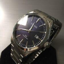 Mens Pulsar Dress Watch By Seiko Steel Navy Blue Dial VJ42-X120 Genuine