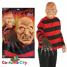 Herren Nightmare on Elm Street Freddy Krueger Blister Kit Halloween Kostüm