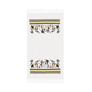 African Dancers Print Beach Towel, 100% Cotton Soft Large Absorbent Bath Towel