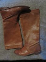 FRYE COGNAC WHIP STITCH RIDING BOOTS SIZE 7