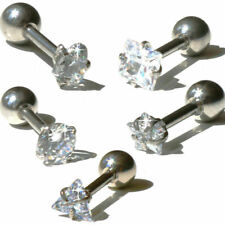Ear Studs Crystal Tragus Stud Studs Helix Cartilage Ear Piercing Labret Barbell