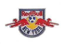 NEW YORK RED BULLS MLS SOCCER EMBROIRERED IRON-ON PATCH CREST BADGE 2.5 X 4.5 IN