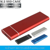 Portable USB 3.0 2TB M.2 SSD External Solid State Drive For PC Laptop Desktop
