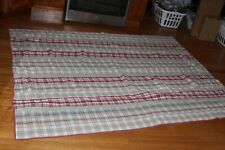 """NAUTICA ADELSON RED TAN PLAID QUILT 68"""" x 85"""" - TWIN"""