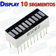 Display LED 10 segmentos Rojo grafico barra 10 led 20 pines carga