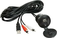 Jensen Jenaux USB Interface and 1/8 in. Auxiliary Input Jack Marine Boat Stereo