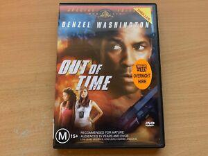 Out Of Time Denzel Washington Eva Mendes Sanaa Lathan (DVD 2003) R4 Ex-Rental